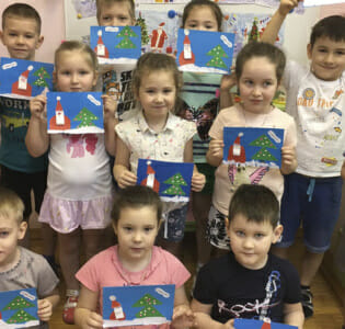 Новогодняя мастерская в МАДОУ детском саду «Надежда»